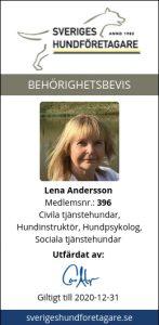 Certifierad hundinstruktör Lena